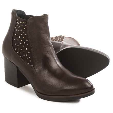 Eric Michael Erin Studded Ankle Boots - Leather (For Women) in Brown - Closeouts