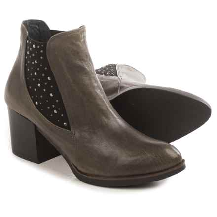 Eric Michael Erin Studded Ankle Boots - Leather (For Women) in Stone - Closeouts