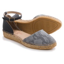Eric Michael Iguana Espadrille Sandals (For Women) in Grey Snake - Closeouts