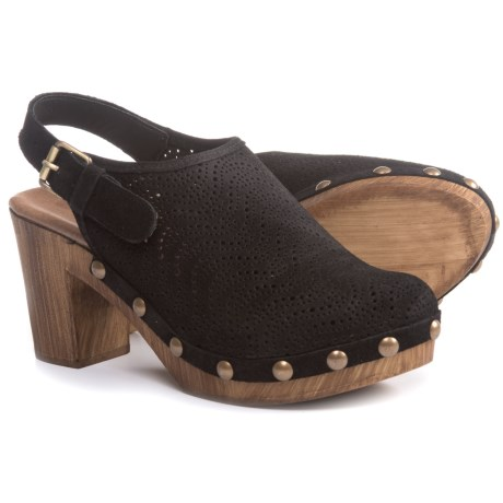 Eric Michael Julia Clogs - Leather (For Women) in Black
