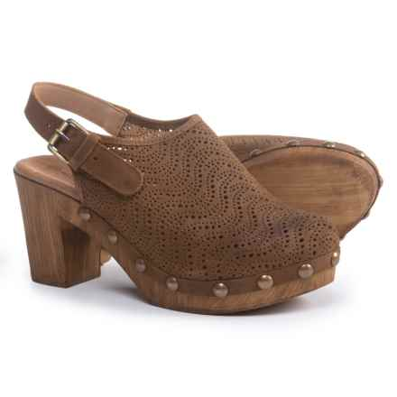 Eric Michael Julia Clogs - Leather (For Women) in Brown - Closeouts