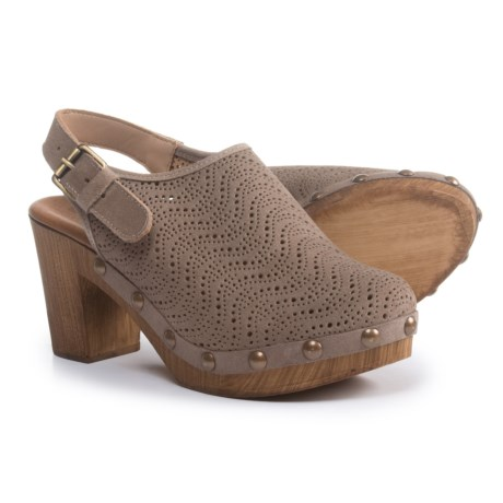 Eric Michael Julia Clogs - Leather (For Women) in Grey