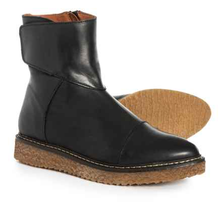 Eric Michael Made in Portugal Helen Mid Boots - Leather (For Women) in Black Leather