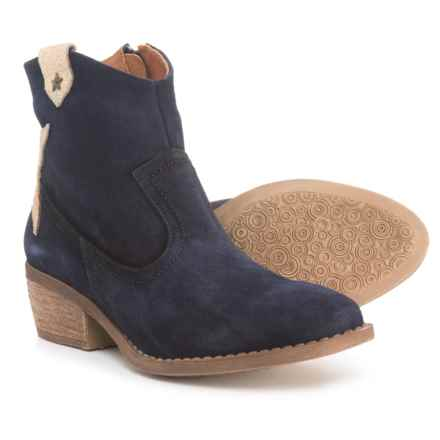 Eric Michael Made in Portugal Valerie Ankle Booties - Suede (For Women) in Navy - Closeouts