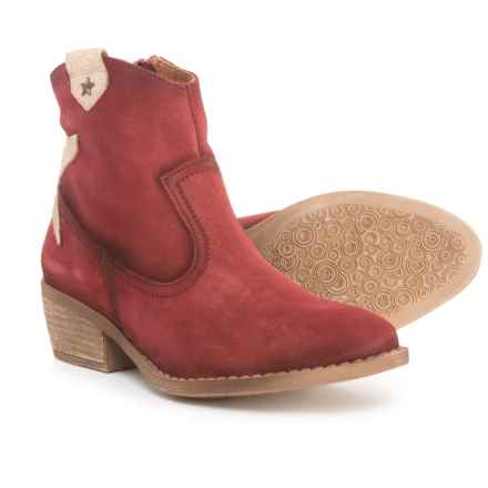 Eric Michael Made in Portugal Valerie Ankle Booties - Suede (For Women) in Red - Closeouts