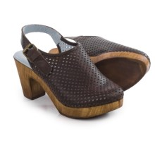 Eric Michael McKenzie Mule Shoes - Leather (For Women) in Dark Brown - Closeouts