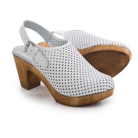 Eric Michael McKenzie Mule Shoes - Leather (For Women) in White - Closeouts