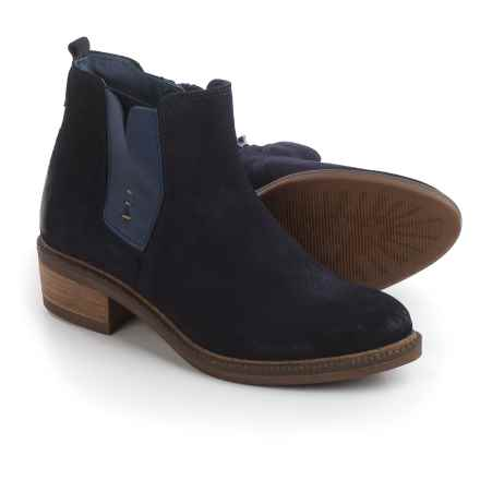 Eric Michael Montreal Boots - Suede (For Women) in Navy - Closeouts
