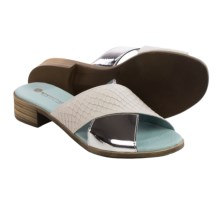 Eric Michael Nero Sandals - Leather (For Women) in White/Silver - Closeouts