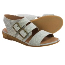 Eric Michael Noriko Sandals - Leather (For Women) in Bone Snake - Closeouts