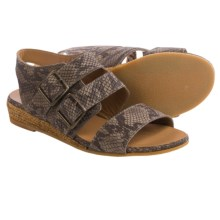 Eric Michael Noriko Sandals - Leather (For Women) in Brown Snake - Closeouts