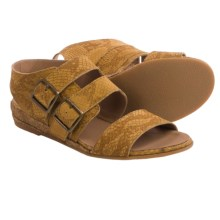 Eric Michael Noriko Sandals - Leather (For Women) in Mustard Snake - Closeouts