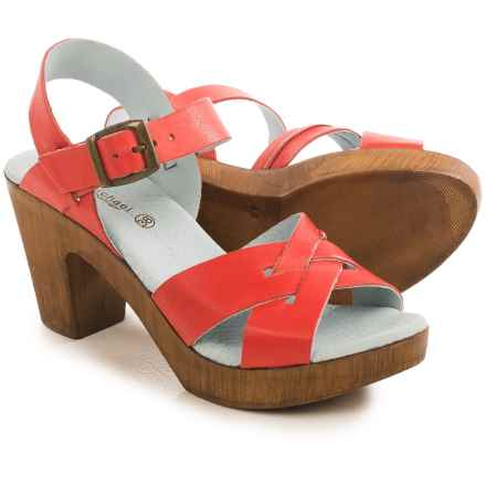 Eric Michael Philly Sandals - Leather (For Women) in Red - Closeouts