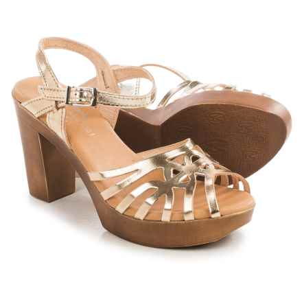 Eric Michael Rosie Sandals - Leather (For Women) in Gold - Closeouts