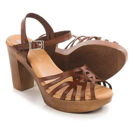 Eric Michael Rosie Sandals - Leather (For Women) in Tan - Closeouts