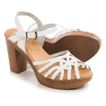 Eric Michael Rosie Sandals - Leather (For Women) in White - Closeouts