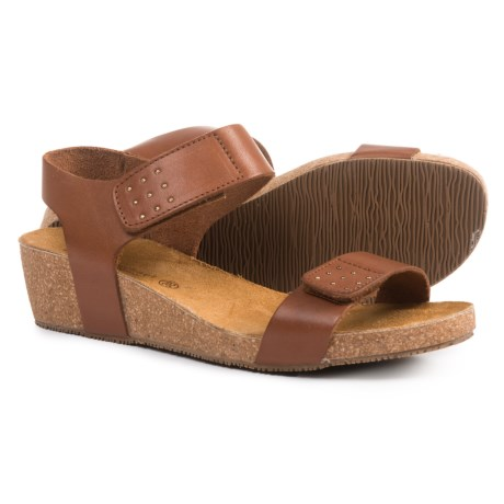Eric Michael Ruby Wedge Sandals - Leather (For Women) in Brown