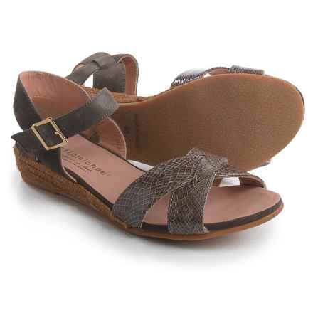 Eric Michael Sabrina Sandals (For Women) in Brown Snake - Closeouts