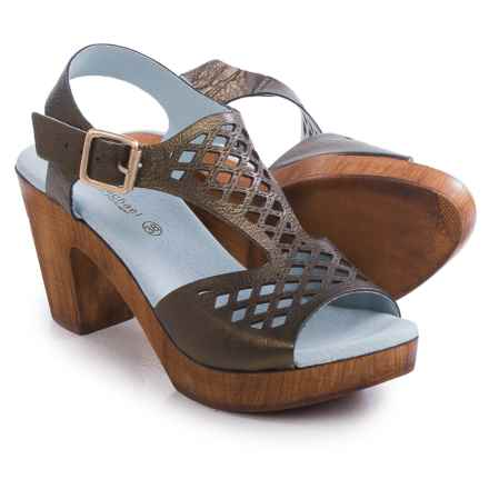 Eric Michael Tyra Sandals - Leather (For Women) in Brown - Closeouts