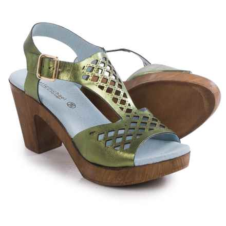Eric Michael Tyra Sandals - Leather (For Women) in Green - Closeouts