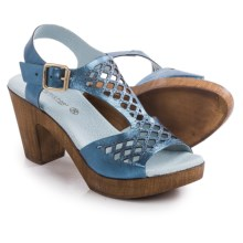 Eric Michael Tyra Sandals - Leather, Slip-Ons (For Women) in Blue - Closeouts