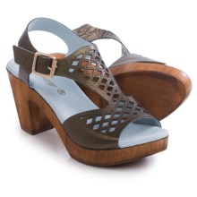 Eric Michael Tyra Sandals - Leather, Slip-Ons (For Women) in Brown - Closeouts