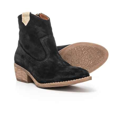 Eric Michael Val Ankle Booties - Suede (For Women) in Black - Closeouts