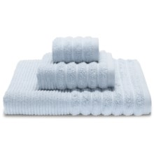 Espalma Boucle Rib Washcloth - Zero-Twist Cotton in Water Blue - Closeouts
