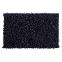 """Espalma Cotton Chenille Shag Bath Rug - 20x32"""" in Black - Overstock"""