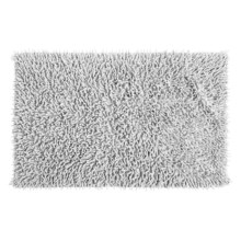 "Espalma Cotton Chenille Shag Bath Rug - 20x32"" in White - Overstock"