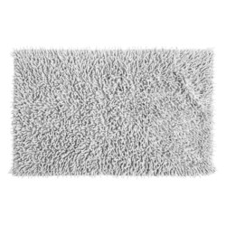 "Espalma Cotton Chenille Shag Bath Rug - 20x32"" in White"