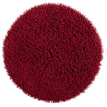 "Espalma Cotton Chenille Shag Bath Rug - 24"" Round in Red - Overstock"