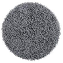 """Espalma Cotton Chenille Shag Bath Rug - 24"""" Round in Silver - Overstock"""
