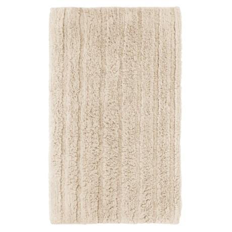 Espalma Cotton-Rayon Bath Rug in Ivory