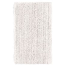 Espalma Cotton-Rayon Bath Rug in White - Closeouts