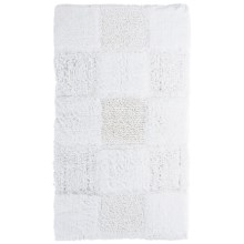 "Espalma Gatsby Glitter Blocks Bath Rug - 21x34"" in White - Closeouts"