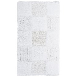 "Espalma Gatsby Glitter Blocks Bath Rug - 21x34"" in White"