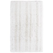 "Espalma Gatsby Glitter Stripe Bath Rug - 21x34"" in White - Closeouts"