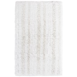 "Espalma Gatsby Glitter Stripe Bath Rug - 21x34"" in White"