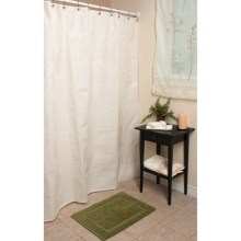 "Espalma Ivana Matelasse Shower Curtain - 72x72"" in Ivory - Overstock"