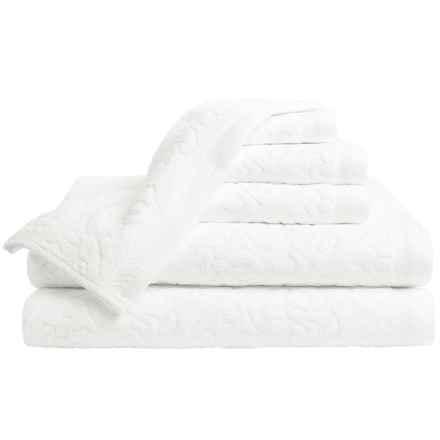 Espalma Mallorca Cotton Velour Bath Towel Set - 6-Piece Set in White - Closeouts