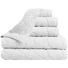 Espalma Pebble Bath Towel Set - Zero-Twist Cotton, 6-Piece in White - Overstock