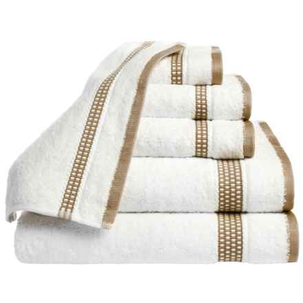 Espalma Plaza Towel Set - Cotton, 6-Piece Set in Linen - Closeouts