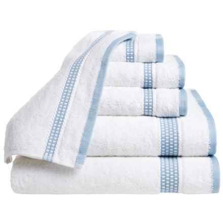 Espalma Plaza Towel Set - Cotton, 6-Piece Set in Ocean Blue - Closeouts