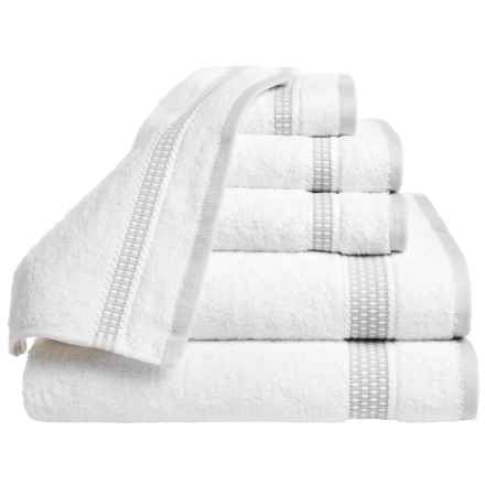 Espalma Plaza Towel Set - Cotton, 6-Piece Set in Silver - Closeouts
