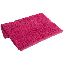 "Espalma Popcorn Loop Bathroom Rug - Cotton, 21x34"" in Hot Pink"