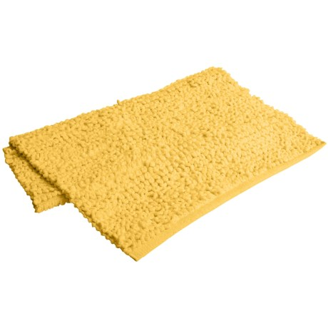 "Espalma Popcorn Loop Bathroom Rug - Cotton, 21x34"" in Lemondrop"