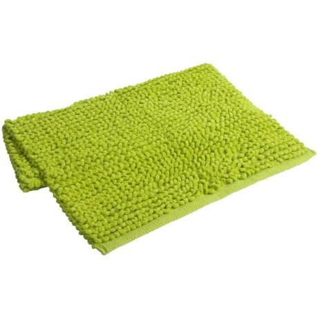 "Espalma Popcorn Loop Bathroom Rug - Cotton, 21x34"" in Lime"