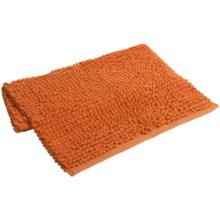"""Espalma Popcorn Loop Bathroom Rug - Cotton, 21x34"""" in Orange - Closeouts"""