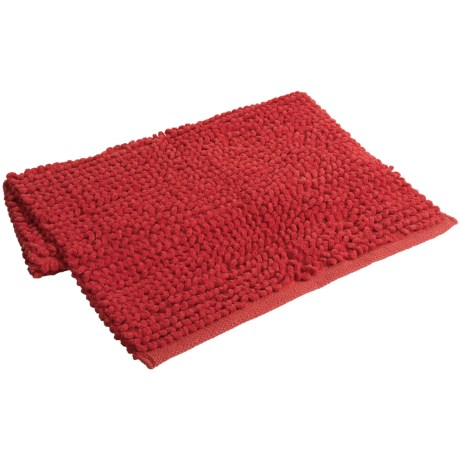 "Espalma Popcorn Loop Bathroom Rug - Cotton, 21x34"" in Red"